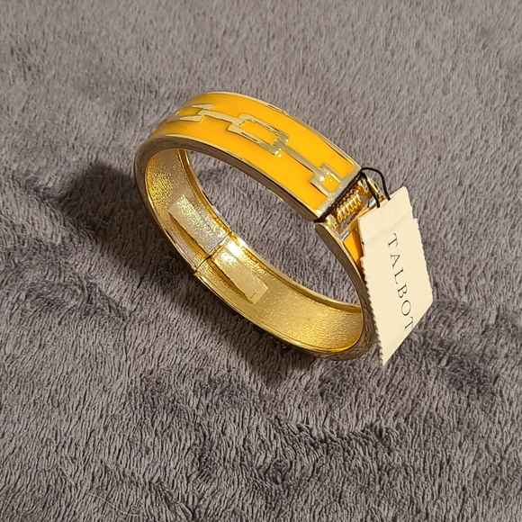 NWT Talbot's Gold and Yellow Link Hinged Bracelet